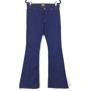 Mother The Curfew Flare Leg Mid Rise Stretch Jeans